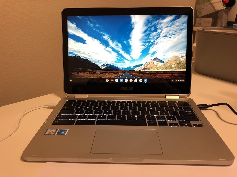 Asus Chromebook Flip C302 - Silver, 32 GB, 8 GB