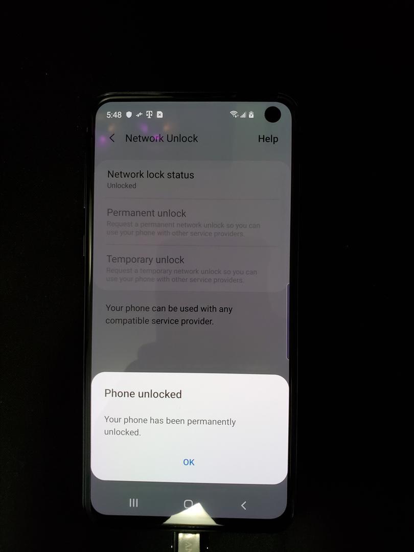 Samsung Galaxy S10e (T-Mobile) [SM-G970U] - Black, 128 GB, 6 GB