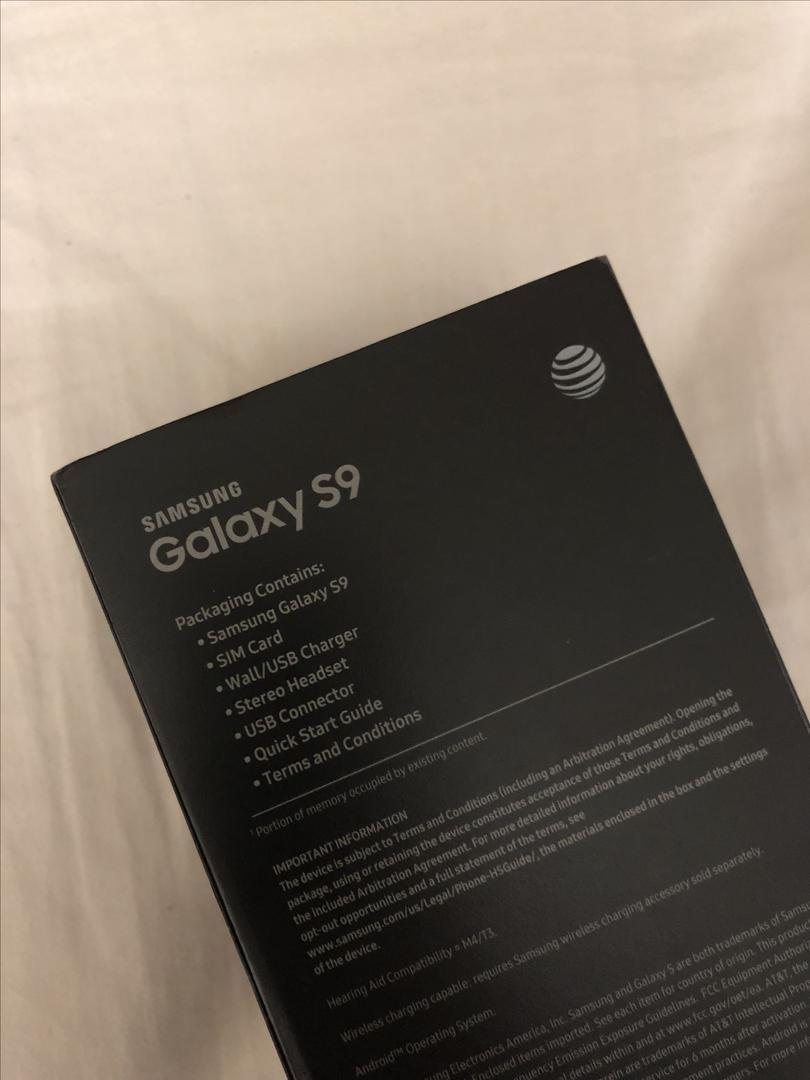 Samsung Galaxy S9 (AT&T) [SM-G960U] - Black, 64 GB