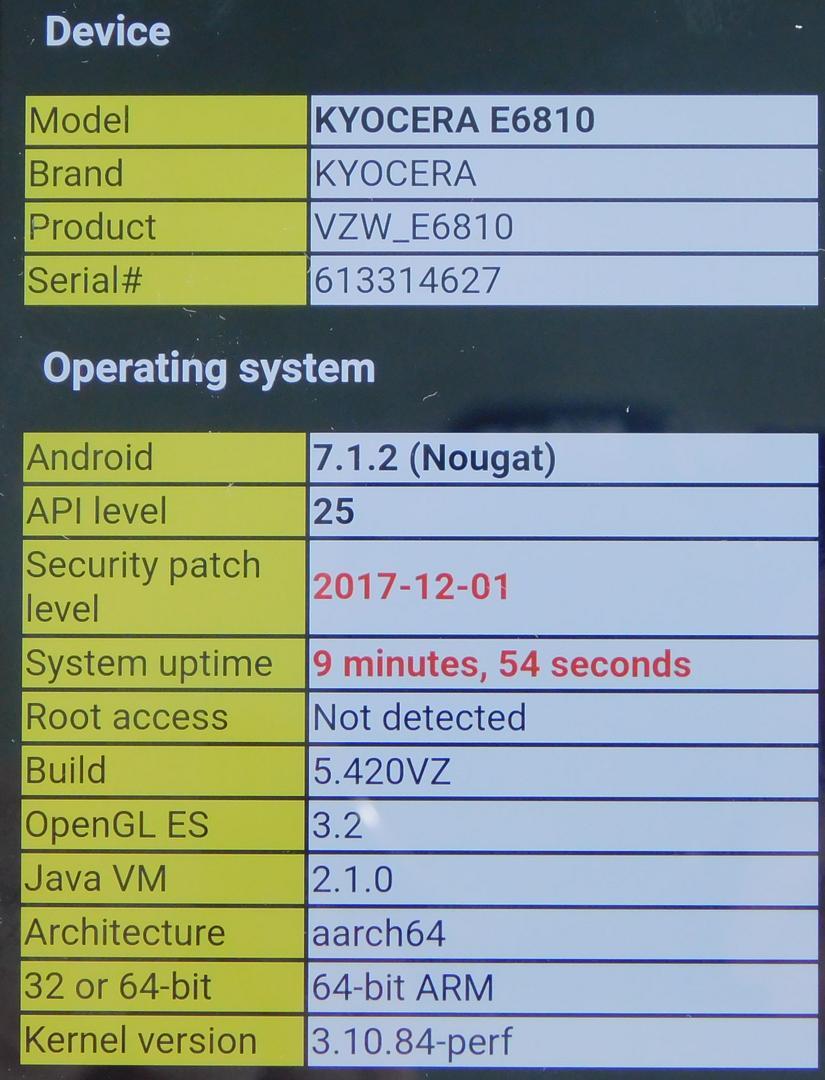 Kyocera DuraForce Pro (Verizon) - Black, 32 GB, 2 GB