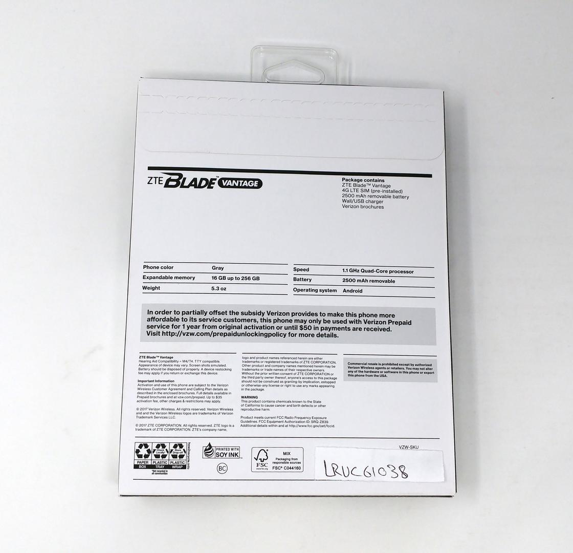 ZTE Blade Vantage Prepaid (Verizon) [Z839] - Gray