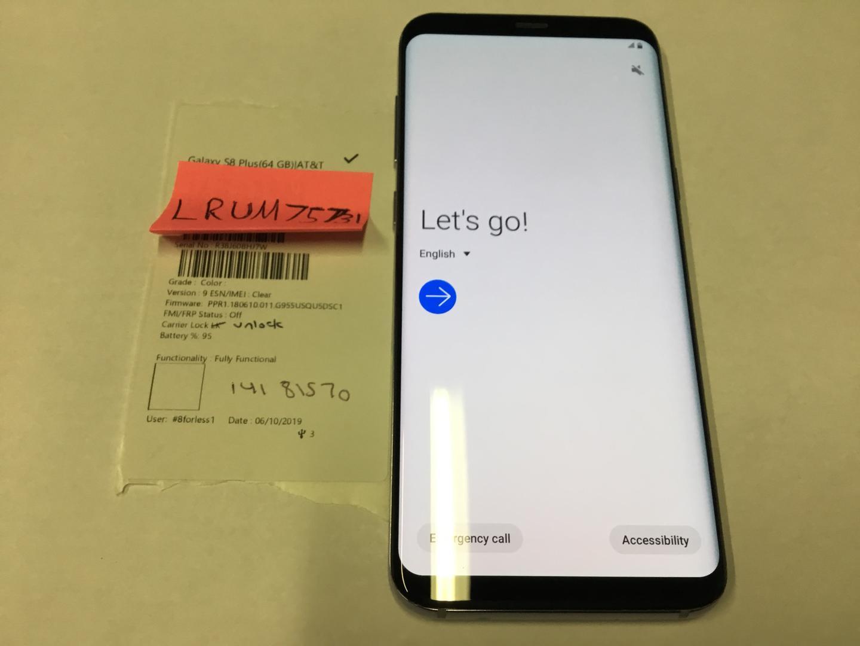 Samsung Galaxy S8 Plus (AT&T) [SM-G955U] - Gray, 64 GB