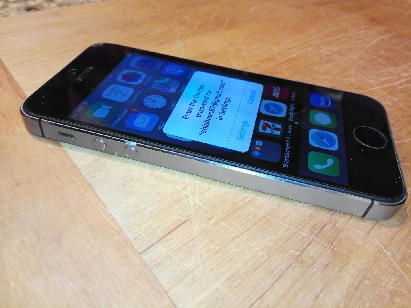 iphone5s mp4分辨率_Apple iPhone 5S (Unlocked) [A1453] - Gray, 16 GB in Seattle-Tacoma - LTMJ27841 - Swappa