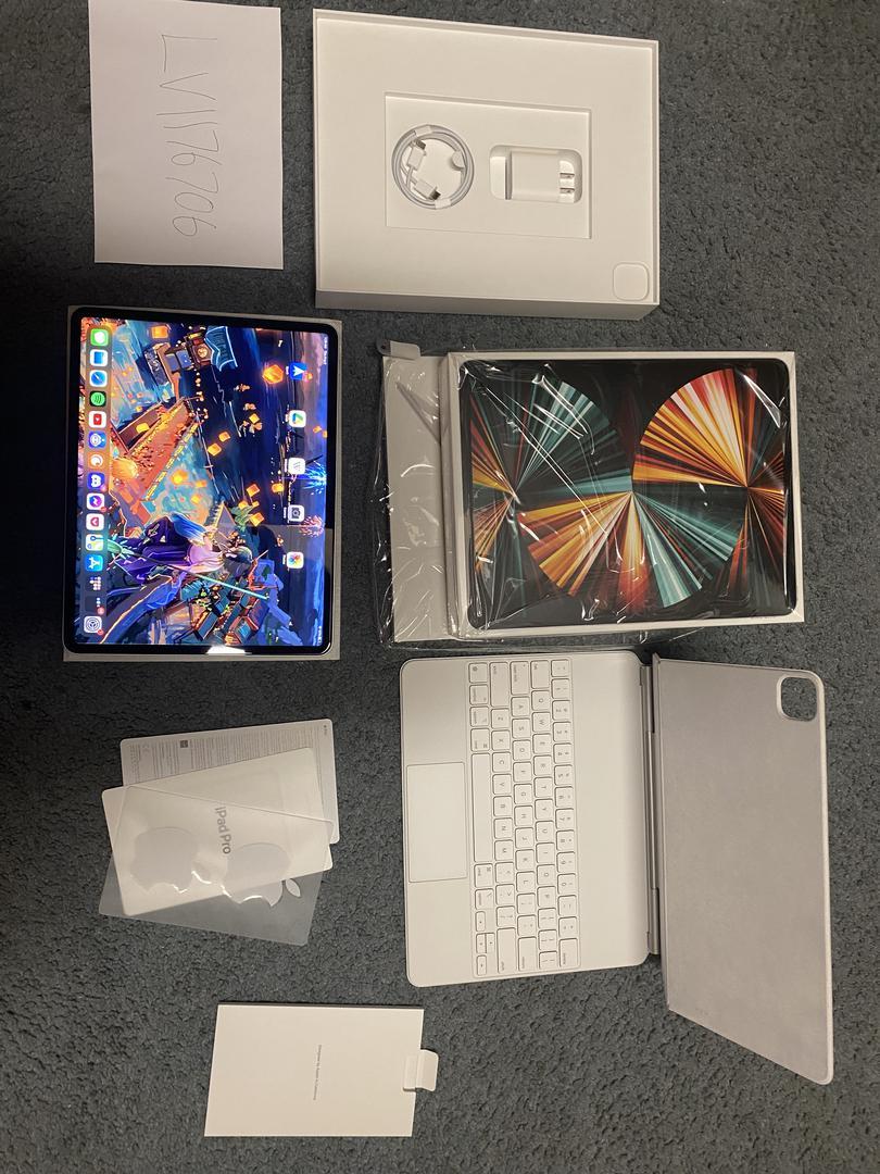 """Apple iPad Pro 12.9"""" 5th Gen 2021 (Wi-Fi) - Silver, 256 GB ..."""