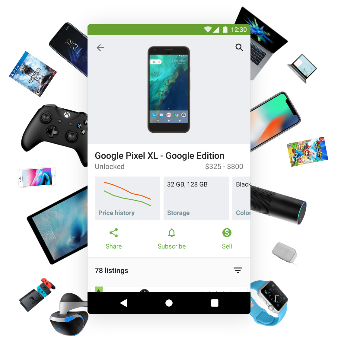 Swappa mobile app for Android